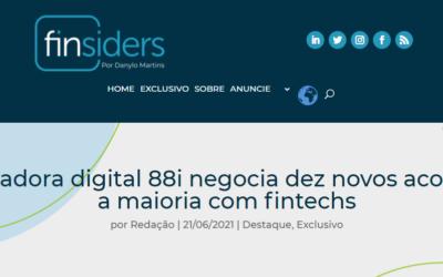 Seguradora digital 88i negocia dez novos acordos – a maioria com fintechs